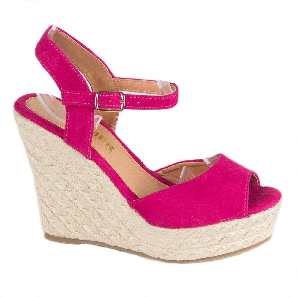 Sandale de dama fucsia cu platforma TCYS-10-F