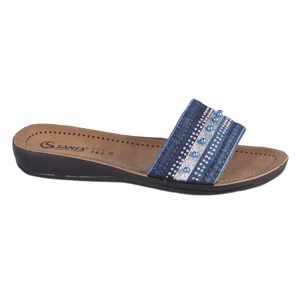 Papuci de dama din denim 108-348-A