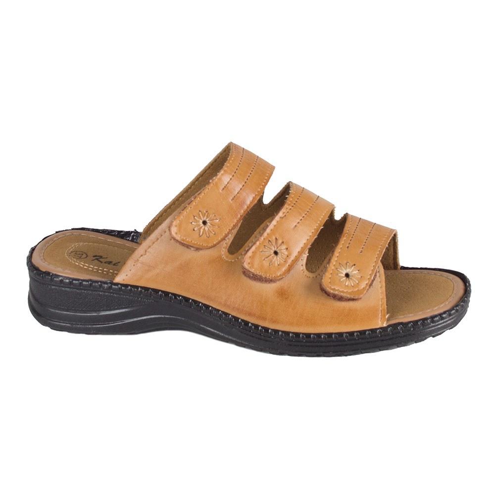 Papuci dama bej de vara cu barete T09-B