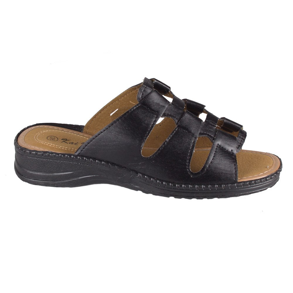 Papuci dama negri de vara cu barete T-11-N