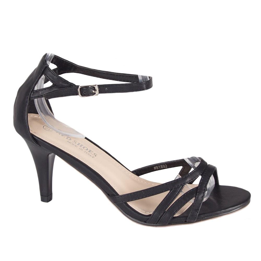 Sandale dama negre cu toc 81892-N-P