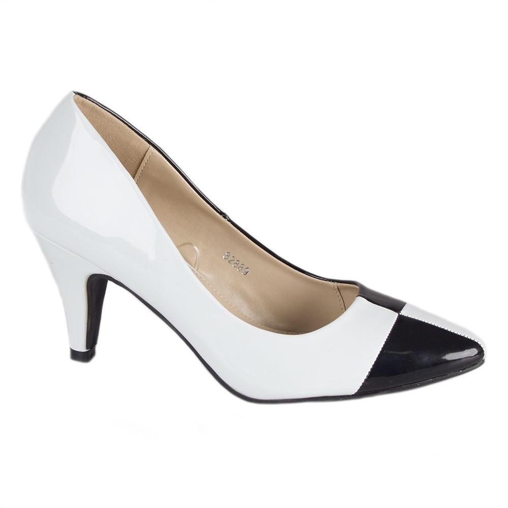 Pantofi dama 82889-NEGRU-ALB-PT