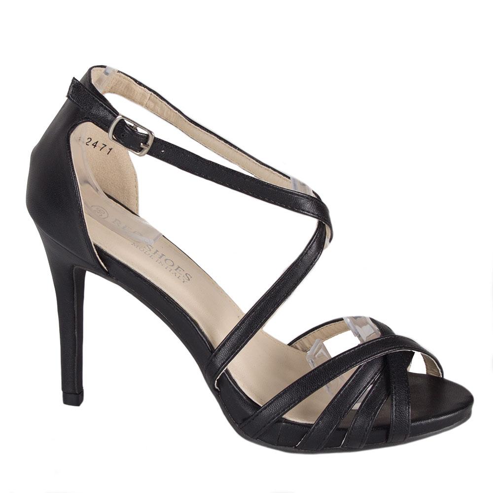Sandale dama cu toc 82471-NEGRU