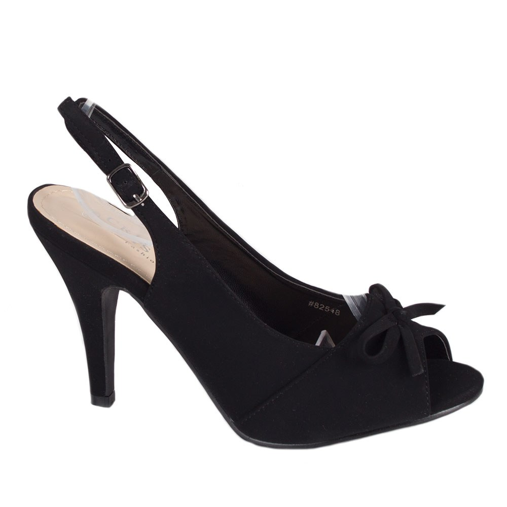 Sandale dama negre cu toc 82548-NEGRU-L