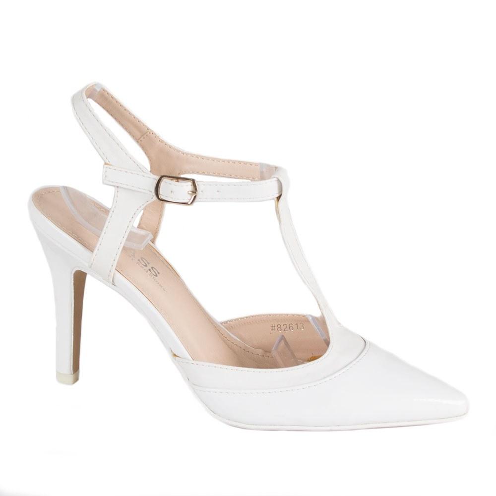 Sandale dama cu toc 82613-ALB-PT-P