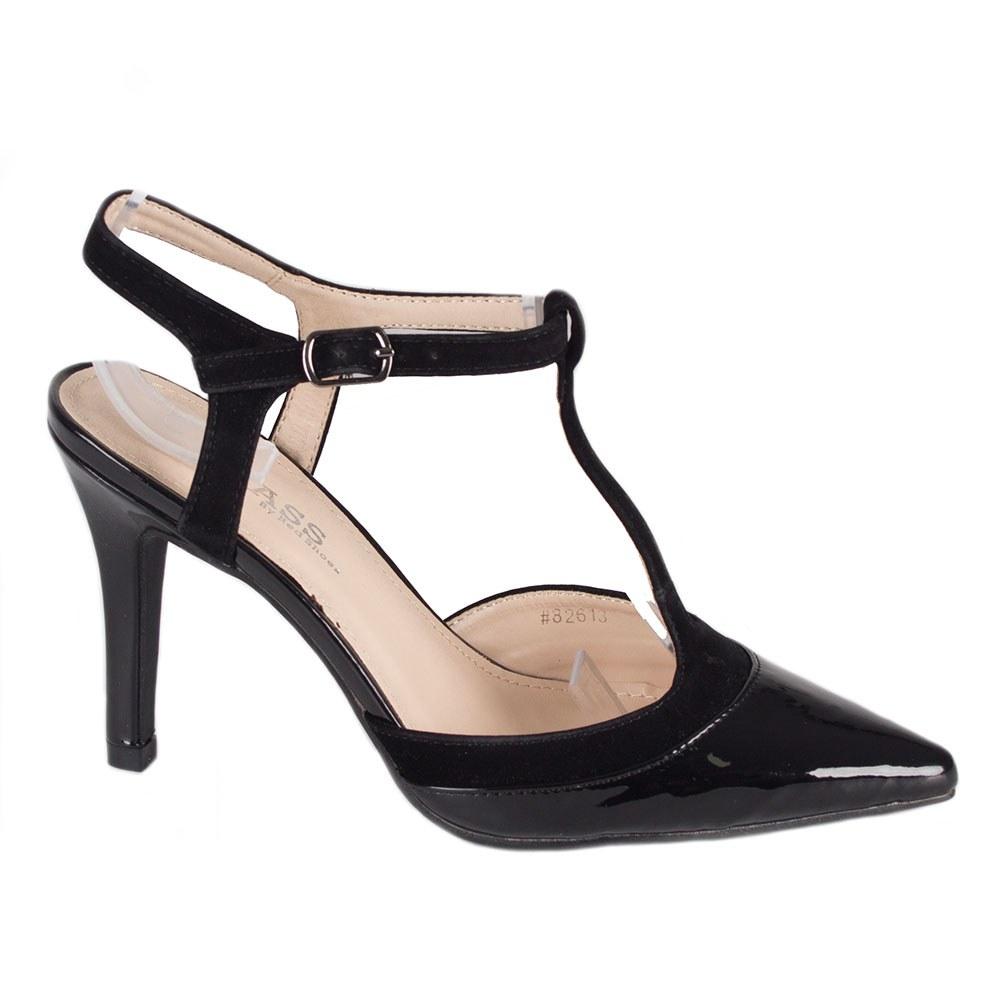Sandale dama negre lacuite 82613-N-PT-SS