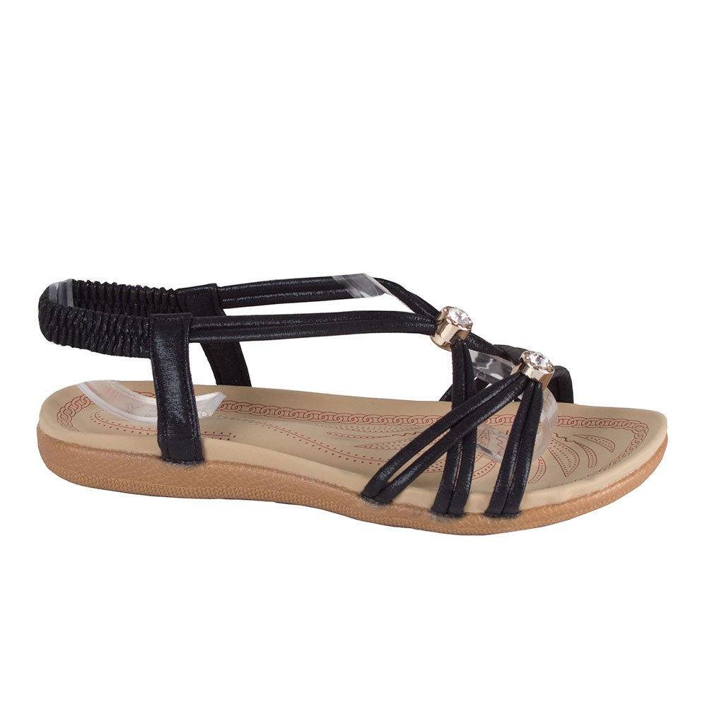 Sandale dama negre cu barete subtiri M-7-N