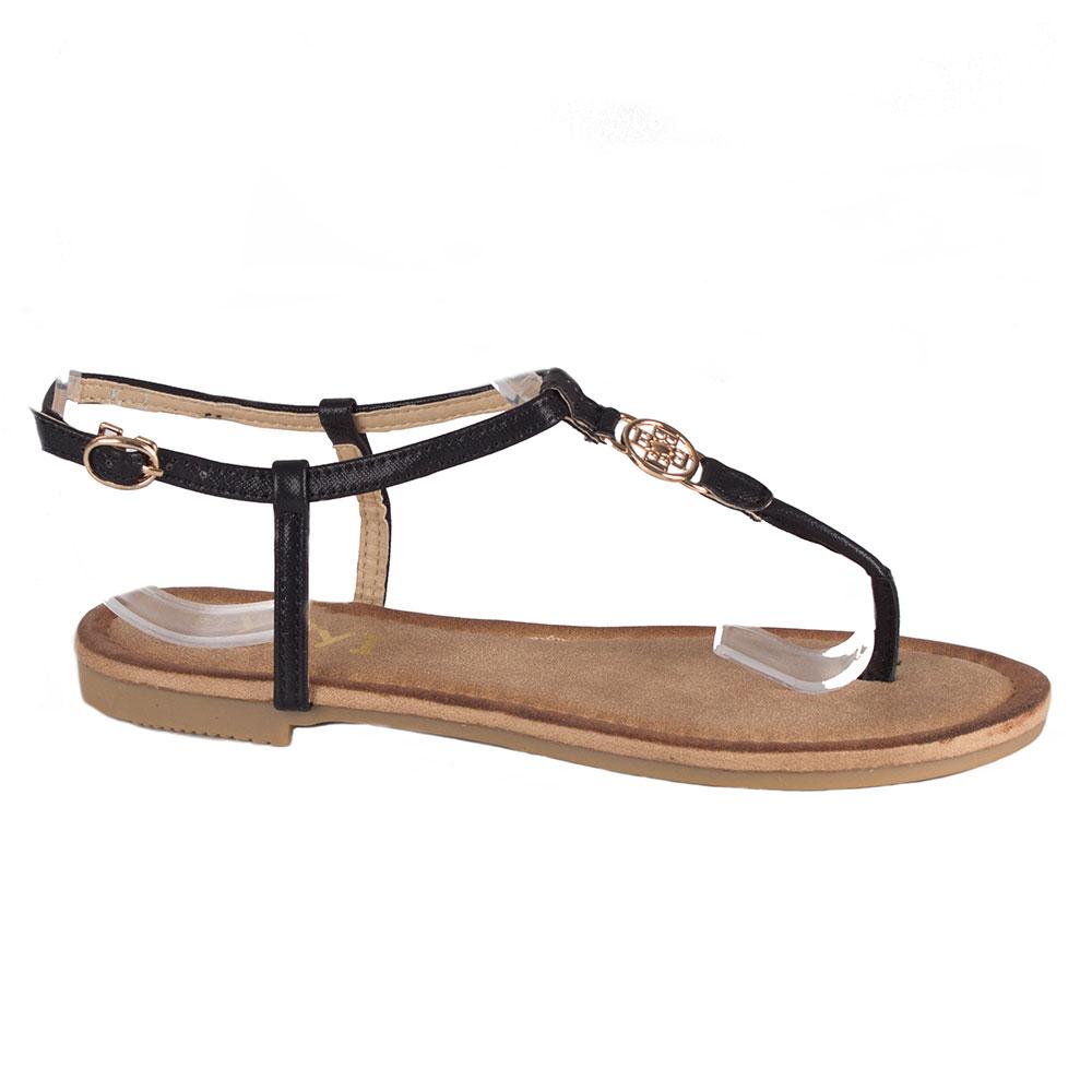 Sandale de dama negre flip-flop K-2-N