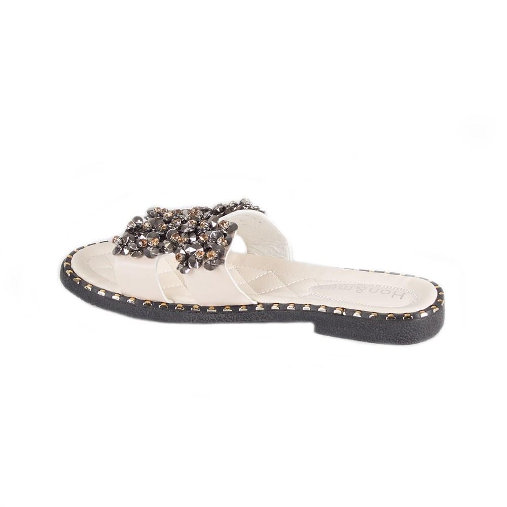 Papuci dama de vara decorati cu pietre PBP-1106-B
