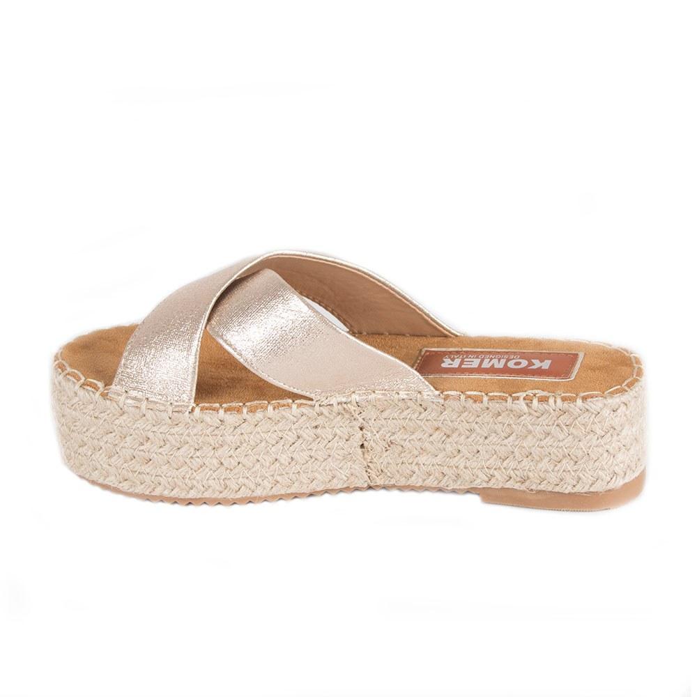 Papuci dama aurii cu talpa groasa SEZZ-8-G