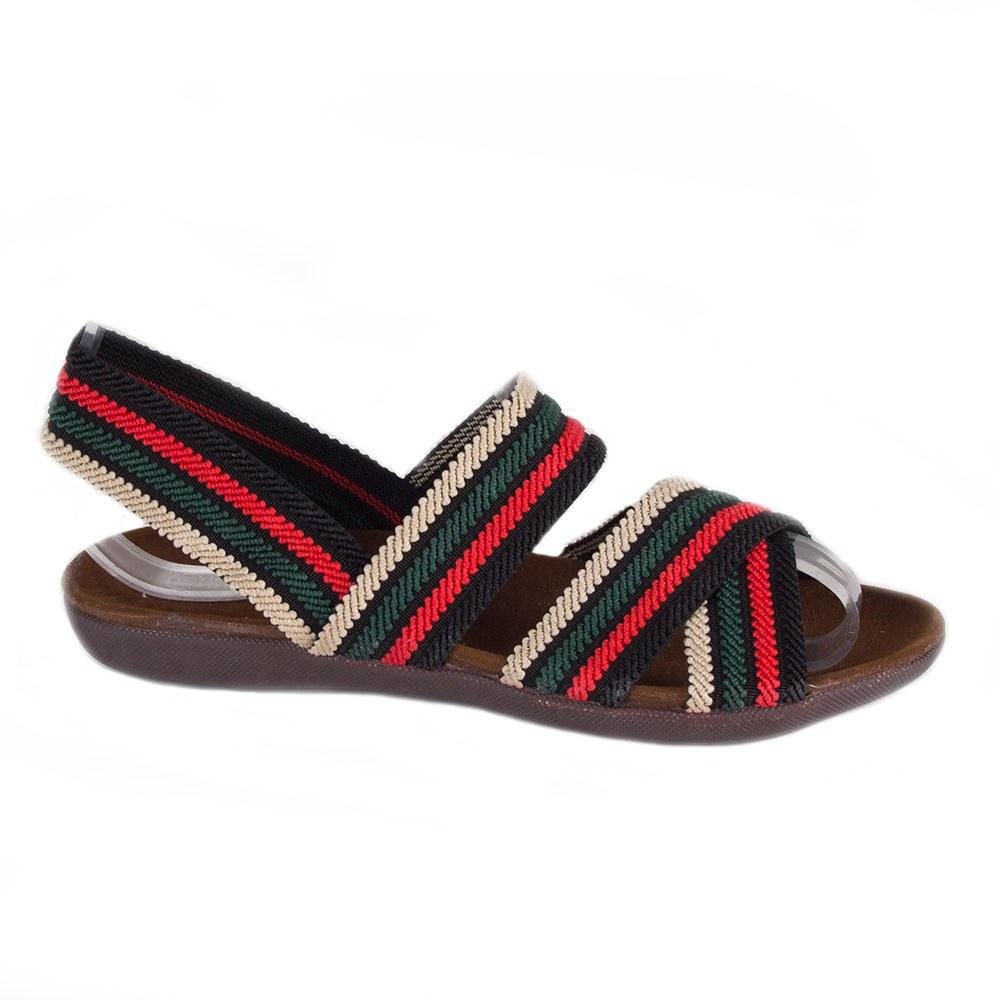 Sandale dama cu dungi colorate X-38-V