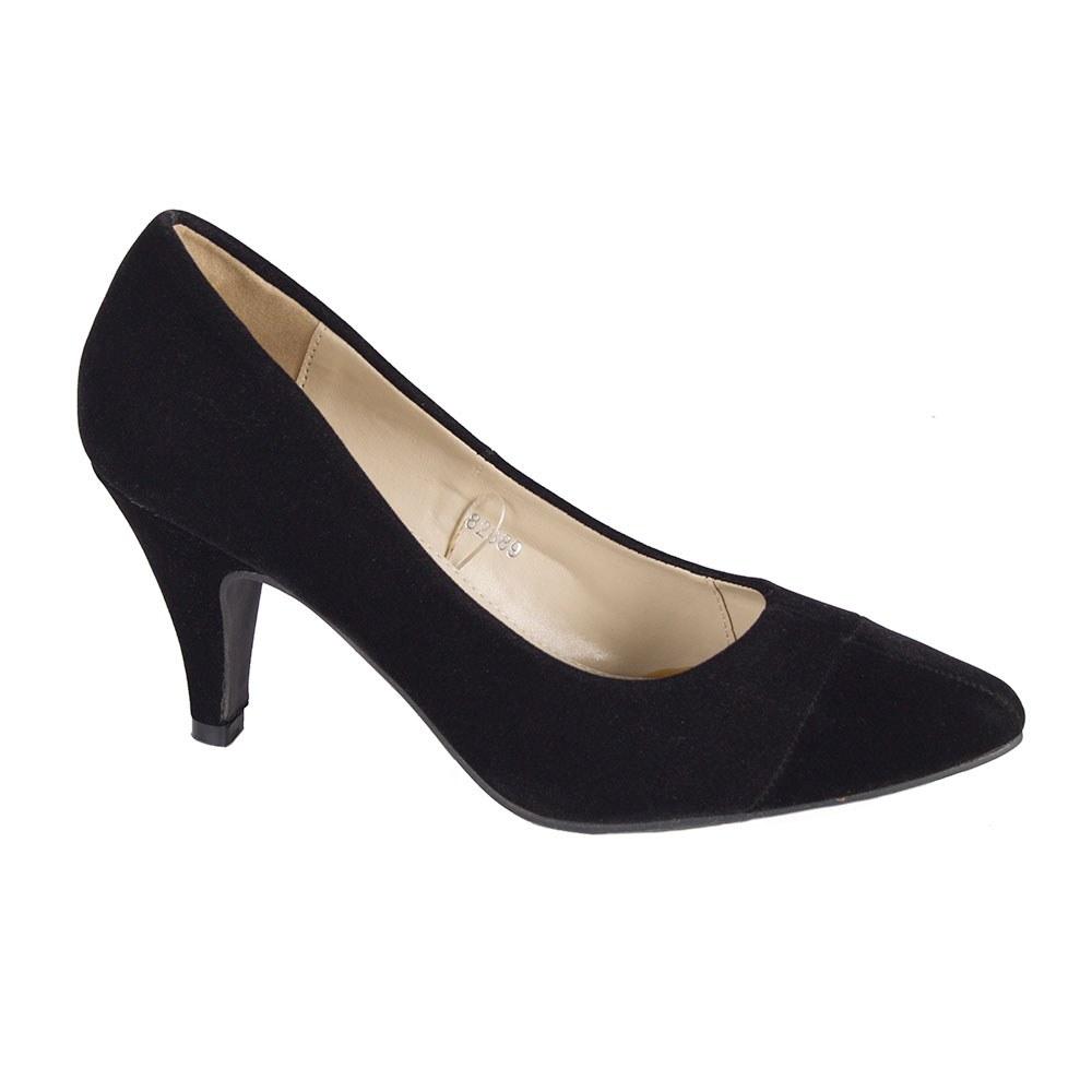 Pantofi dama negri cu toc 82889-N-SS