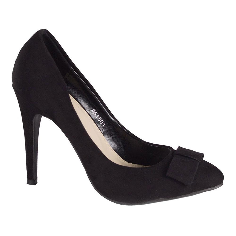 Pantofi negri cu toc 51501-N-SS