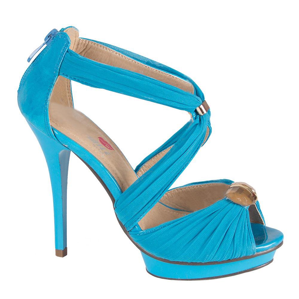 Sandale dama albastre cu toc inalt si platforma 9379-A1-L.B