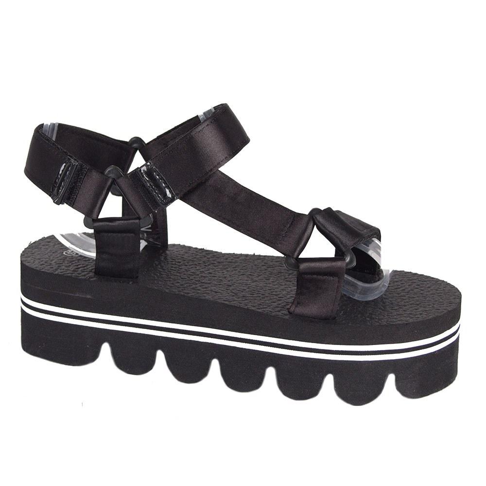 Sandale dama negre cu platforma usoara WSW-28-N