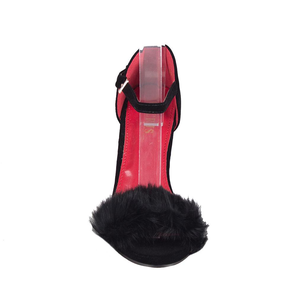 Sandale de dama cu toc 83201-NEGRU-SS
