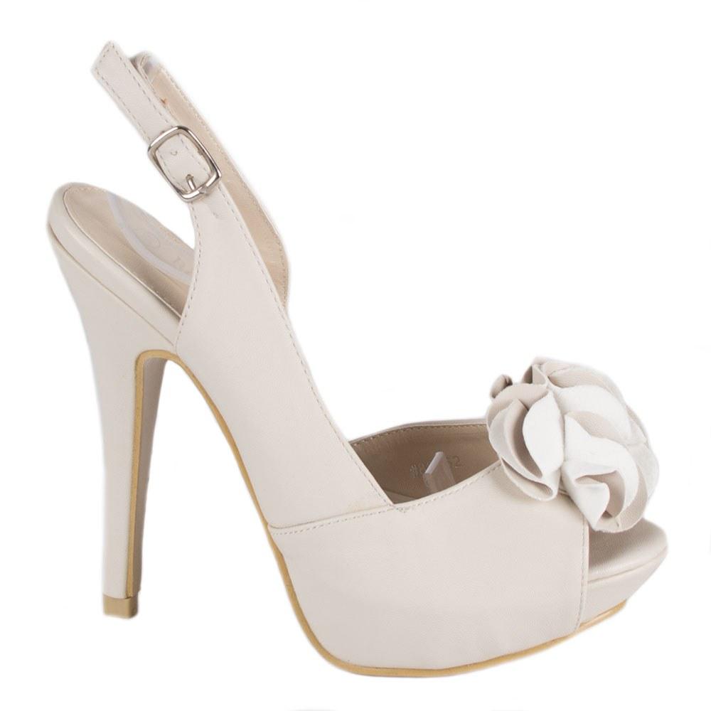 Sandale dama cu platforma 82062-BEJ-P-B