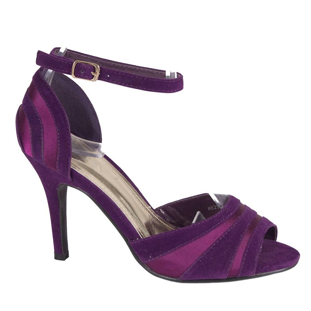 Sandale dama mov cu toc 82518-P-SS-ST-O