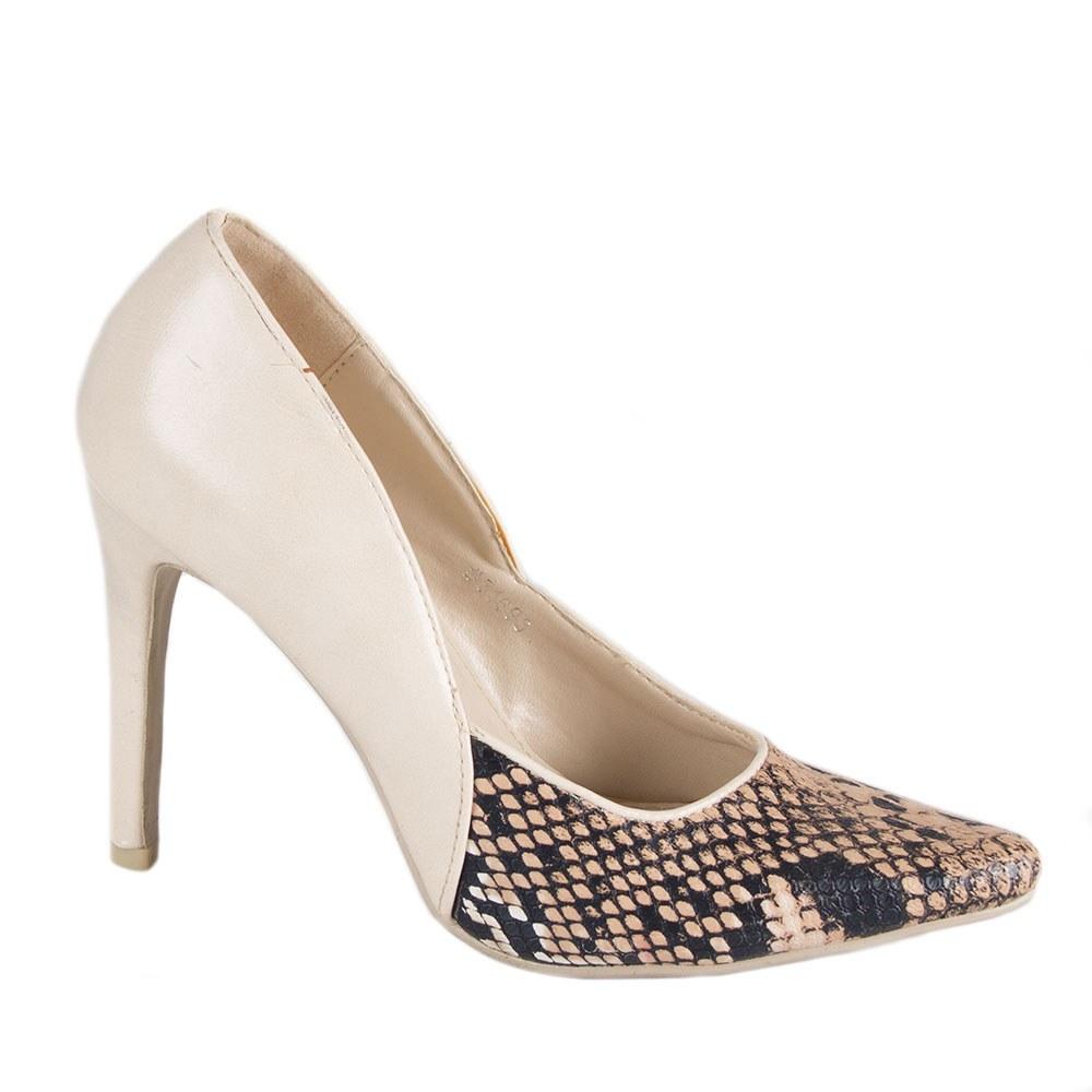 Pantofi de dama bej 51695-B-SK-O