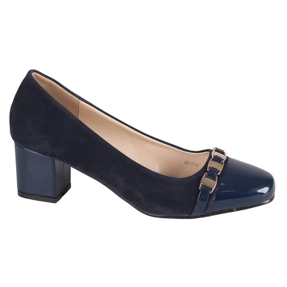 Pantofi de dama  cu toc gros 51719-N-PT-SS-O