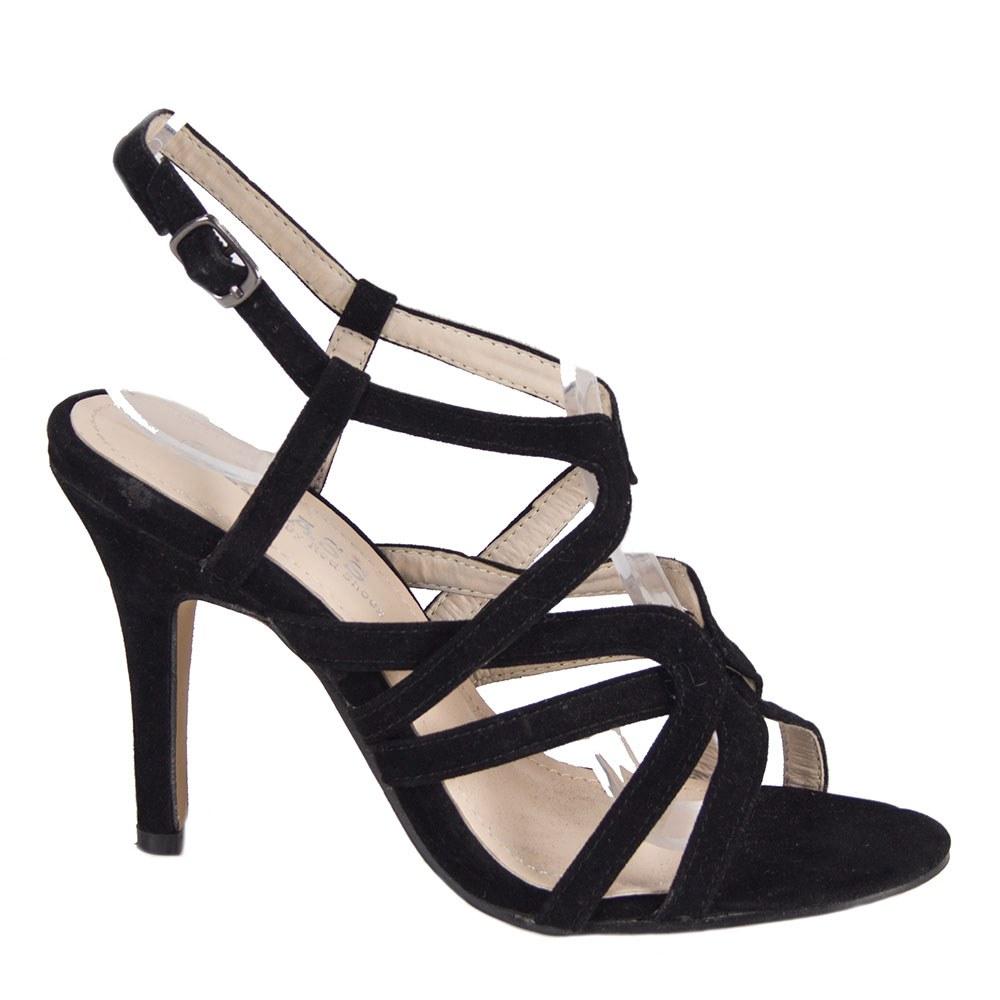 Sandale dama negre cu toc 82641-N-SS-O