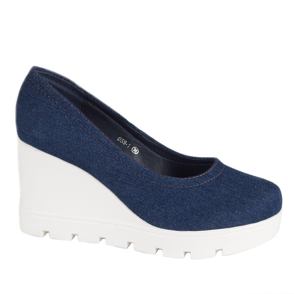 Pantofi de dama din denim 059-1-D.B