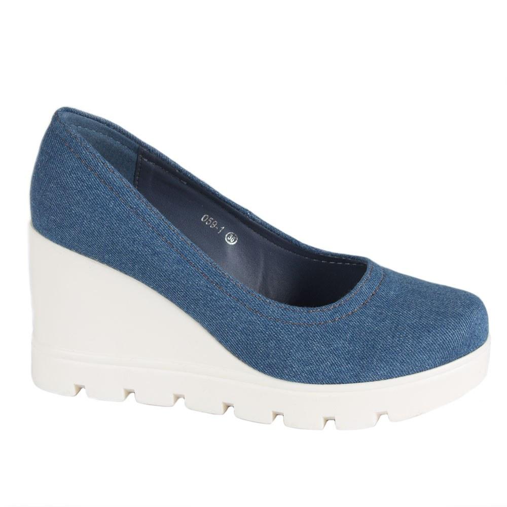 Pantofi de dama din denim 059-1-LT.B