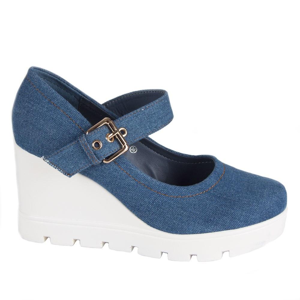 Pantofi de dama din denim 059-2-LT.B