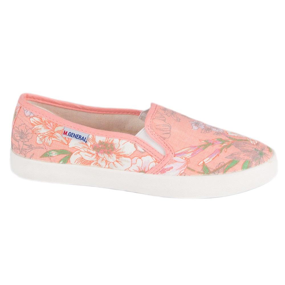 Espadrile de dama roz cu imprimeu floral C151-R