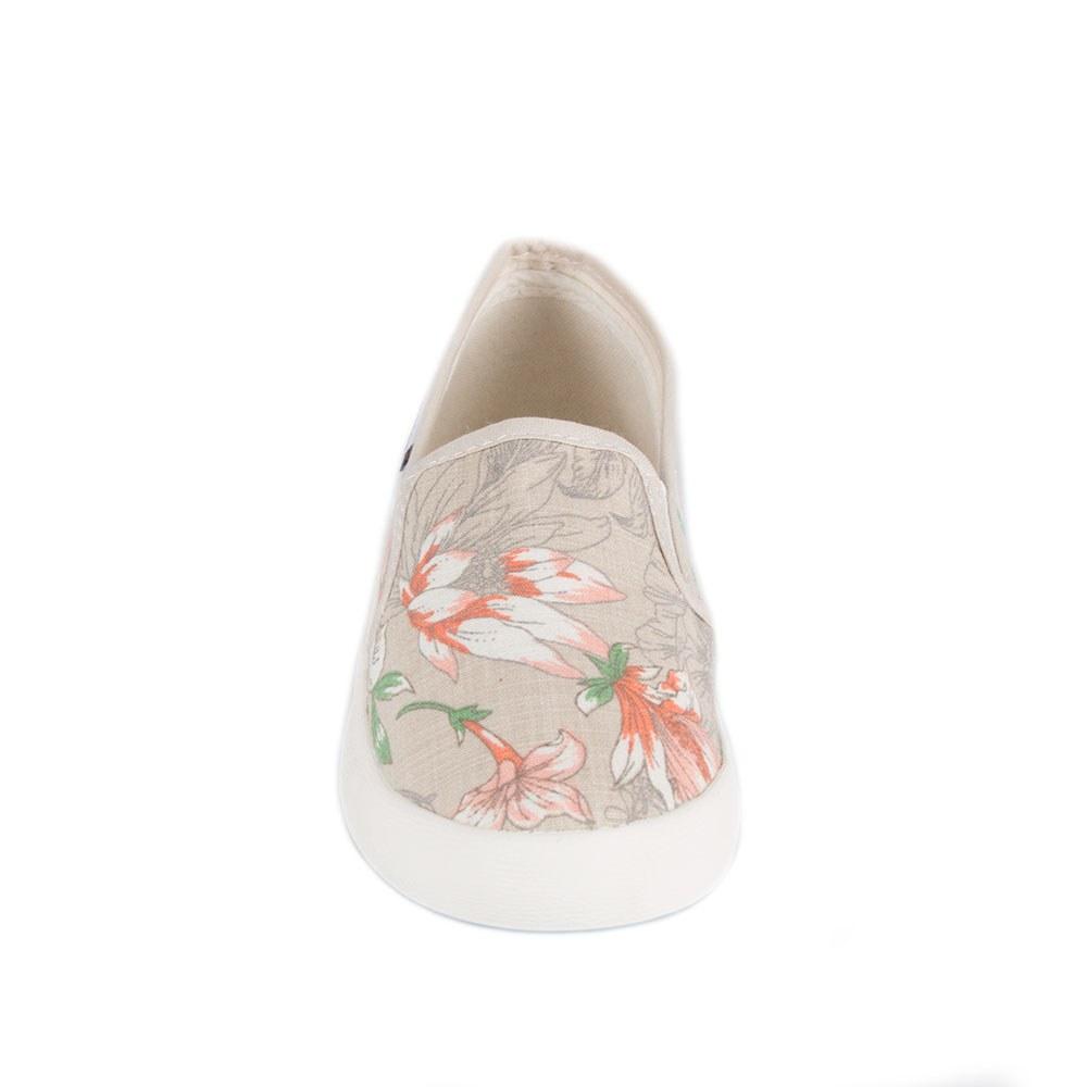 Espadrile de dama gri cu imprimeu floral C151-G