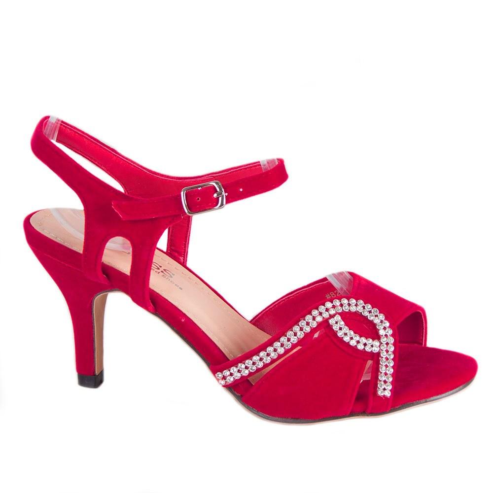 Sandale dama rosii elegante 82665-R-SS