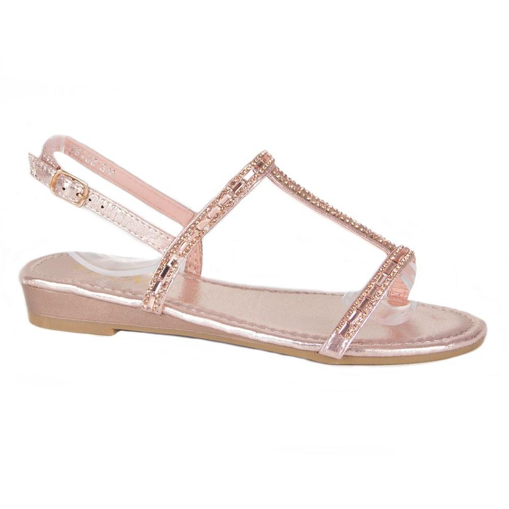 Sandale dama comode cu pietre aplicate WS-20182-R