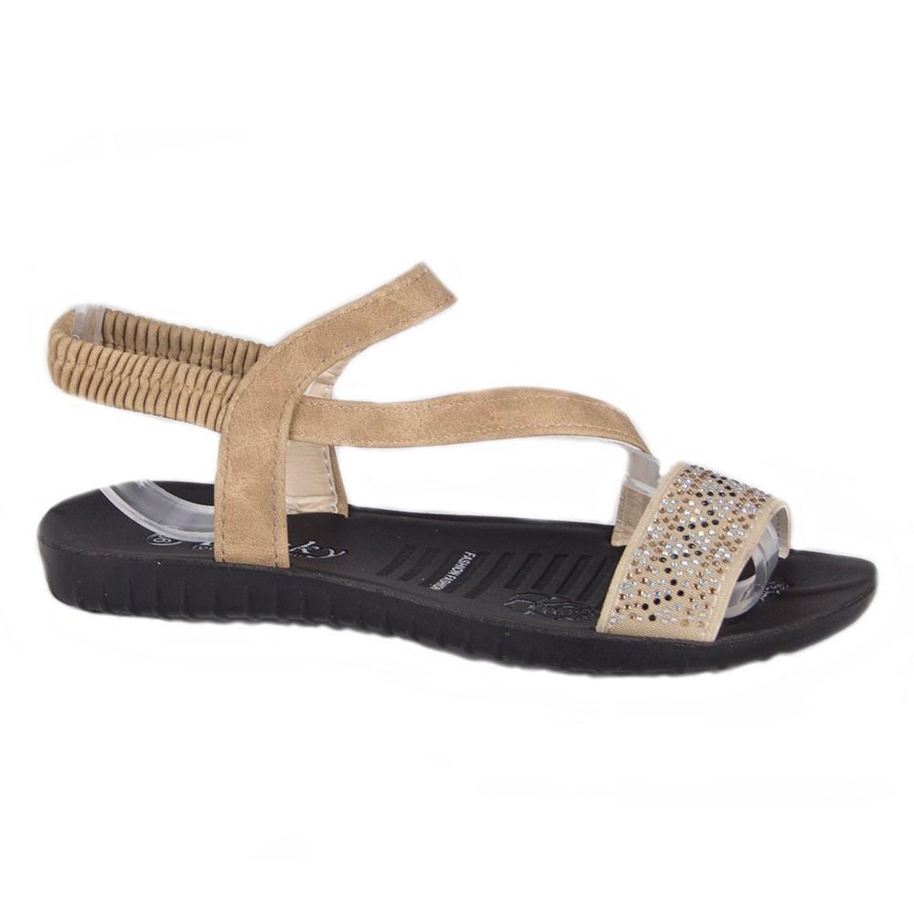 Sandale de dama usoare cu strasuri LU-01-K