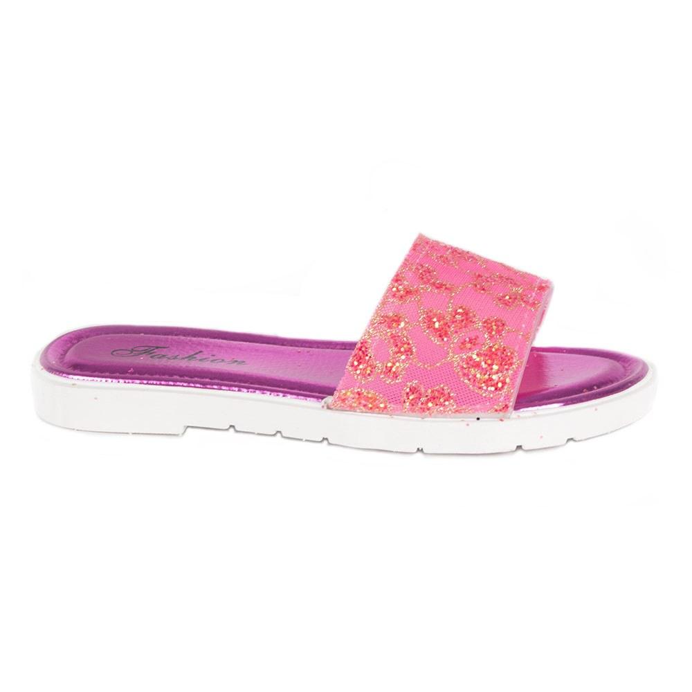 Papuci dama roz din cauciuc 1603-11-R