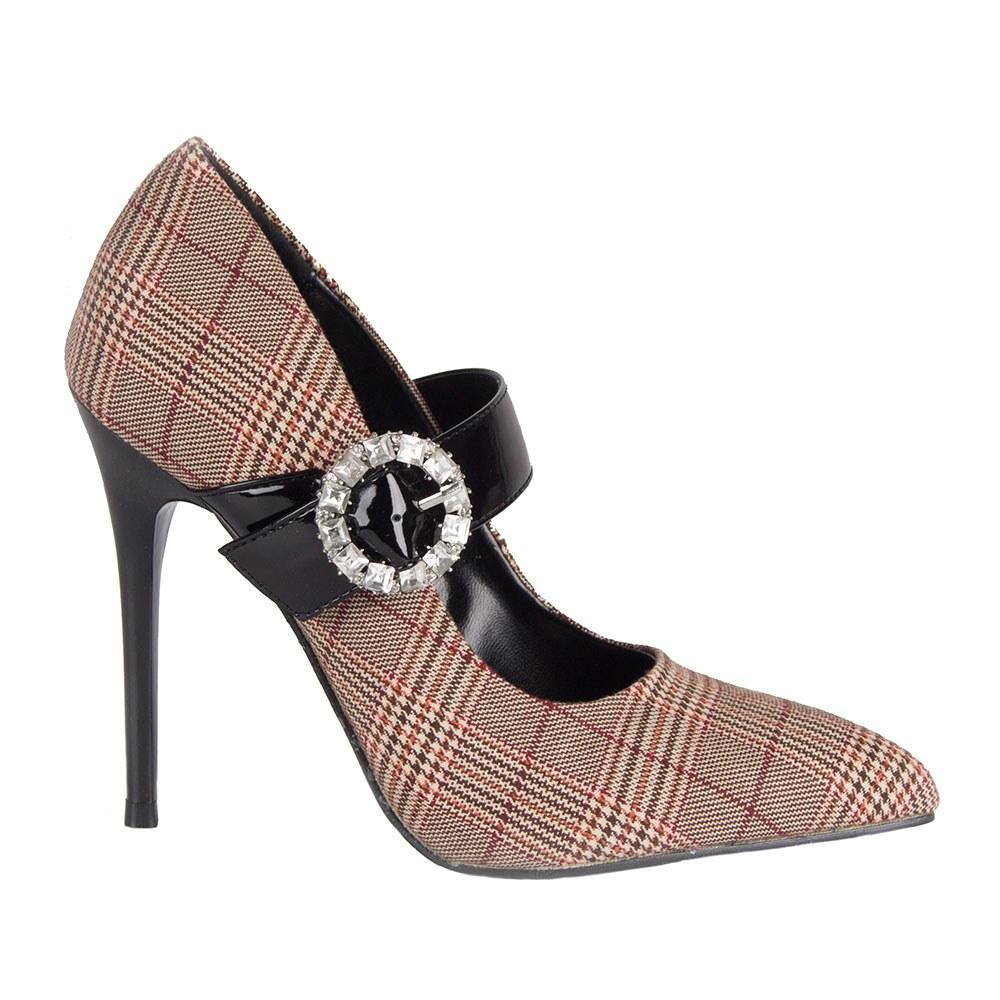 Pantofi dama cu toc si bareta L11-113-A