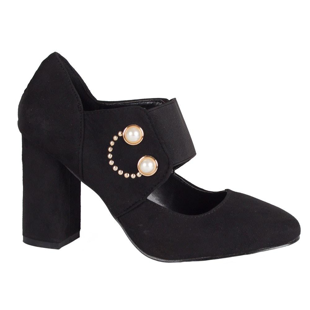 Pantofi dama negri accesorizati P550-M