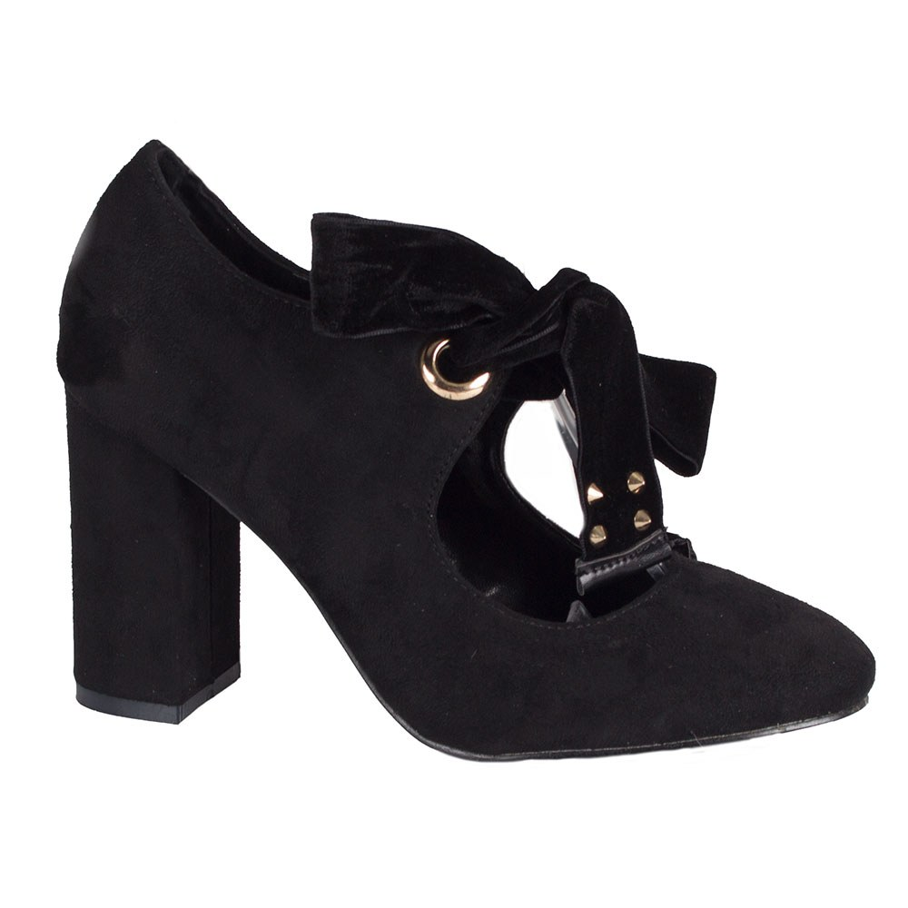 Pantofi de dama negri cu toc inalt P539-N