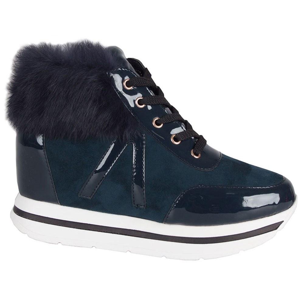 Sneakers dama cu toc ascuns JU-1086-NAVY