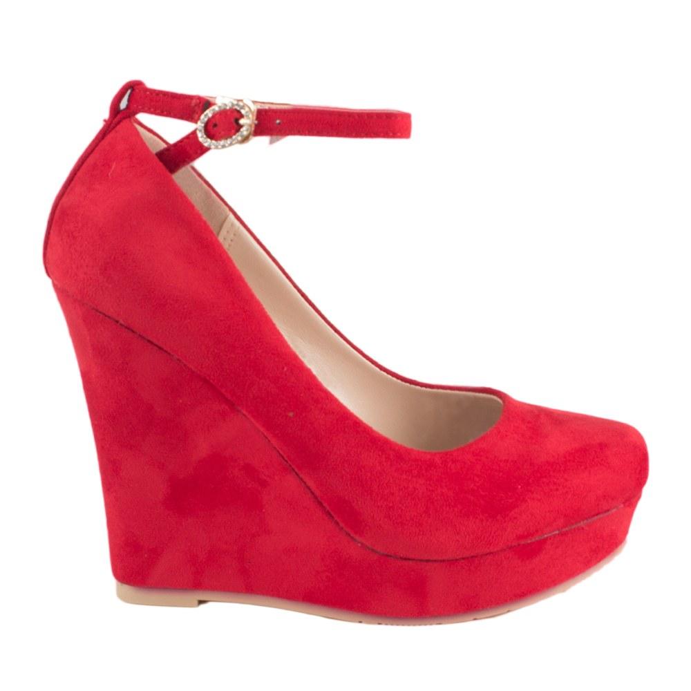 Pantofi cu platforma HS-32-RED