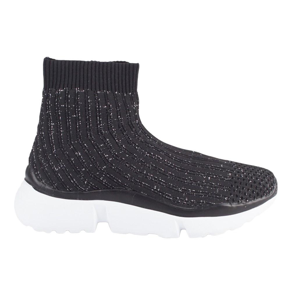 Sneakers de dama din material elastic KFL-737-BLACK