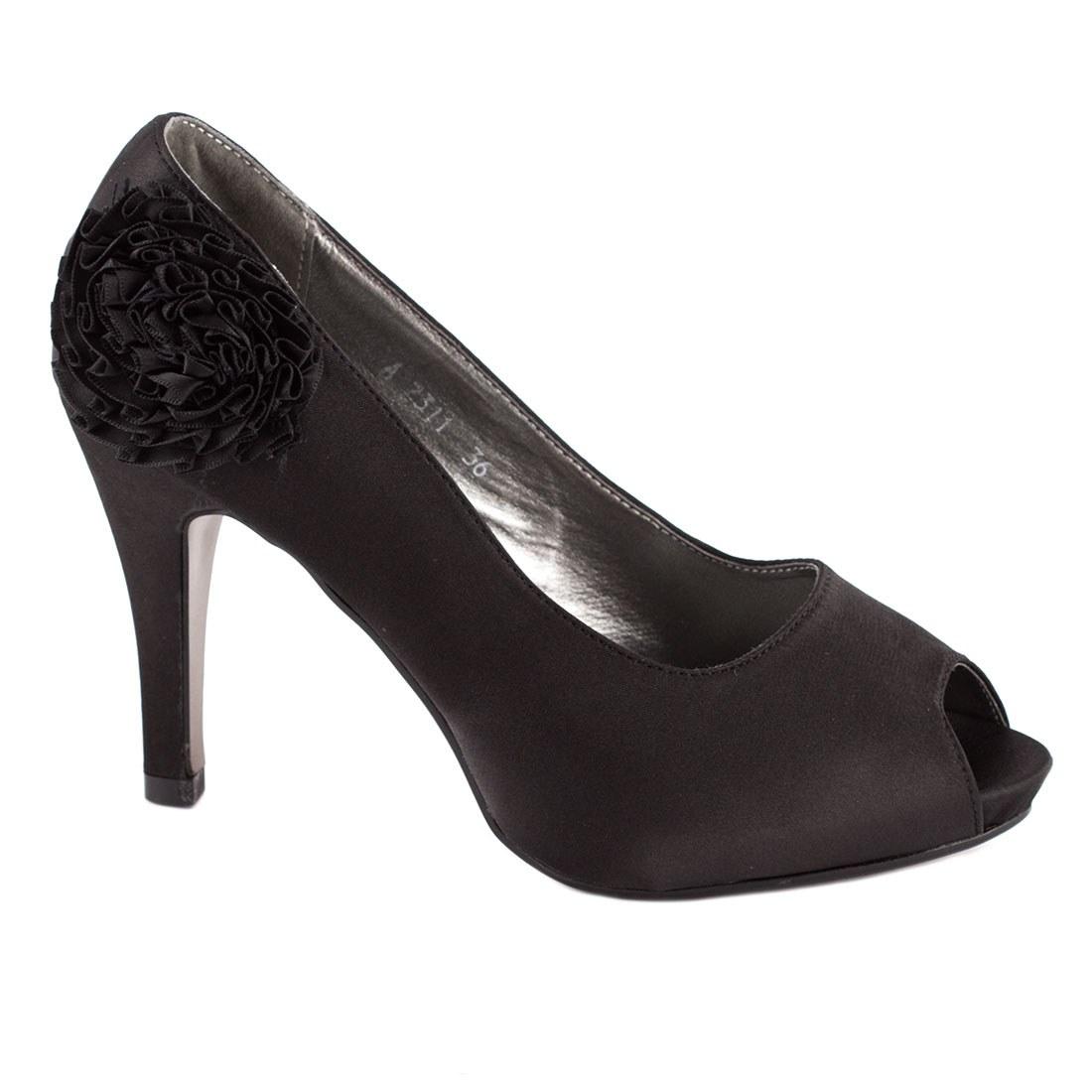 Pantofi de dama satin A2311N-O