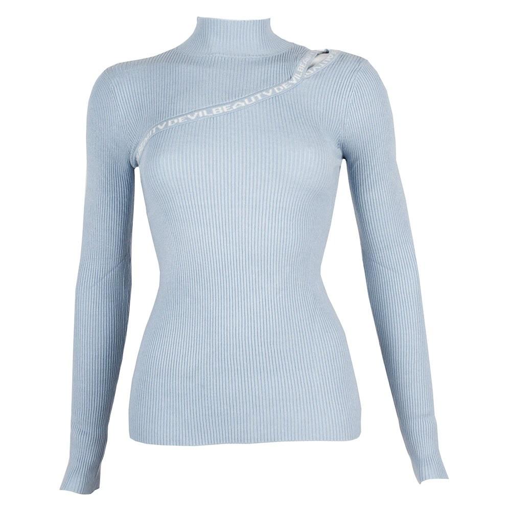 Pulover de dama bleu W-952-B