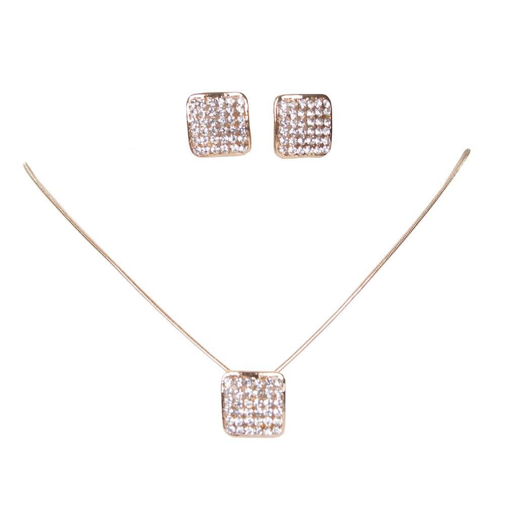 Set auriu colier cu cercei de dama FA33-35-A