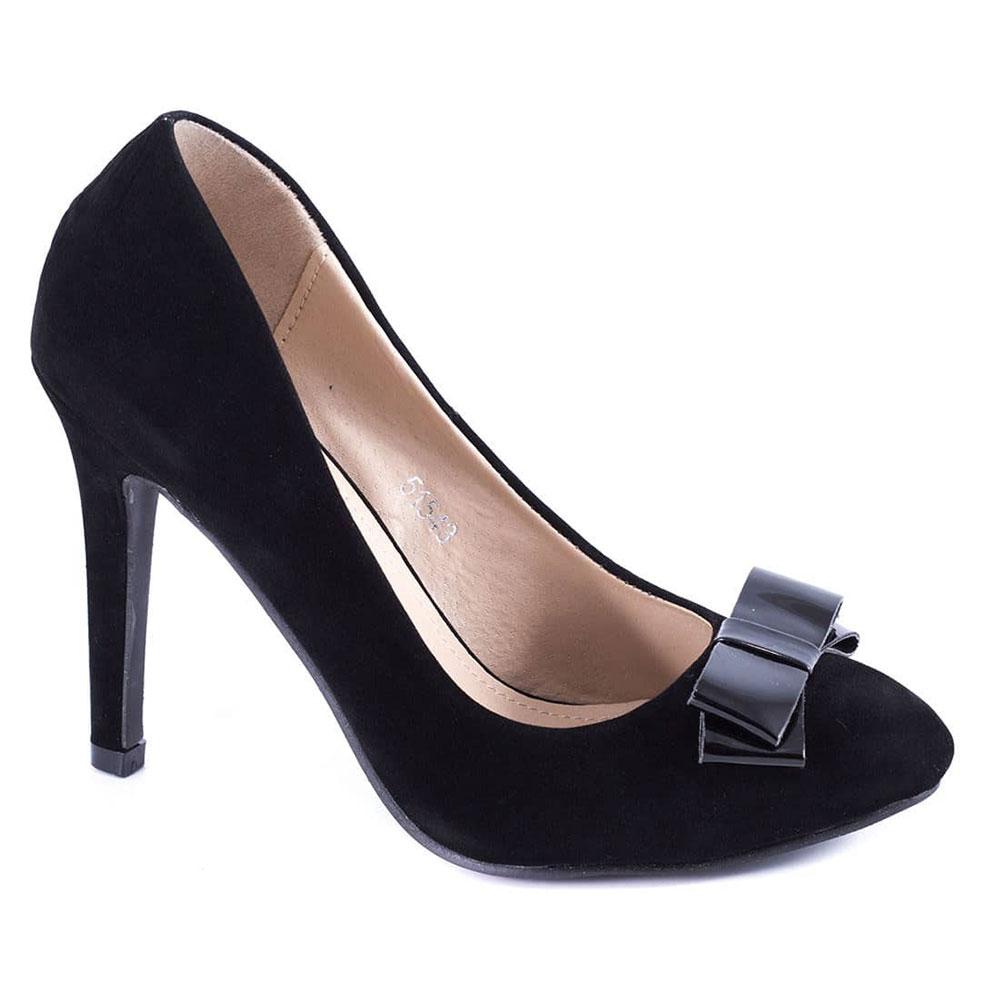 Pantofi negri cu toc 51543B-SS