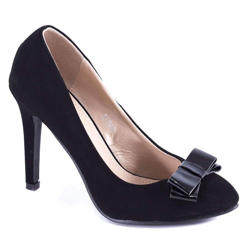 Pantofi negri cu toc 51543B-L
