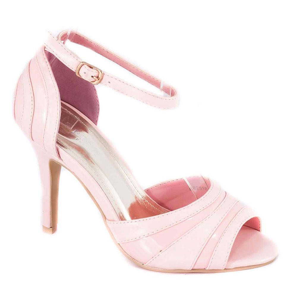 Sandale dama roz cu toc 82518R