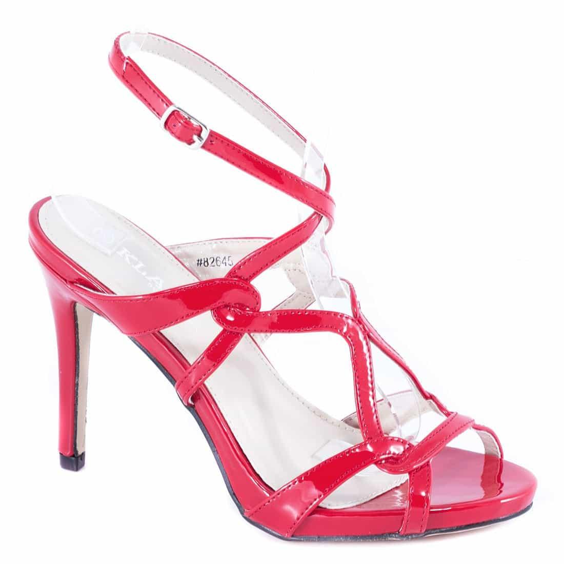 Sandale dama rosii cu toc 82645R