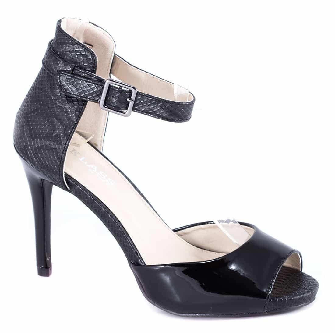 Sandale negre cu toc 82616B-PT-SK