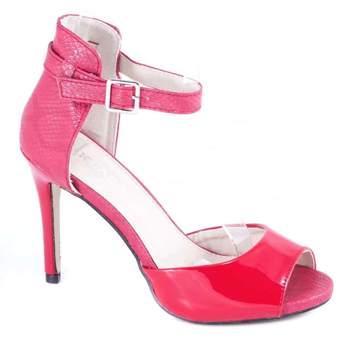 Sandale rosii cu toc 82616R-PT