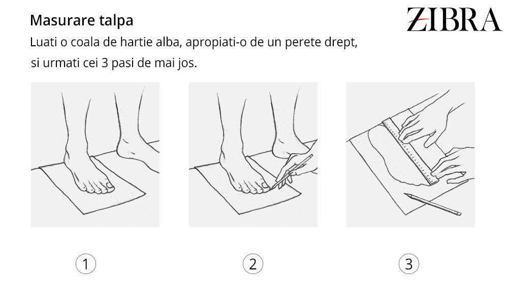 Masurare talpa picior